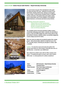 Client: Buckland Timber.